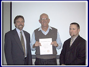 Steven Blank with certificate